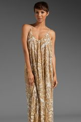 Zimmermann Savannah Layered Scarf Dress in Beige (animale) - Lyst