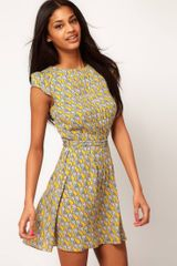 ASOS Collection  Skater Dress in Owl Print - Lyst
