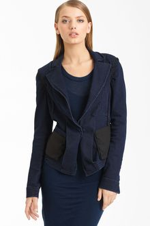 Donna Karan New York Collection Stretch Denim Jacket - Lyst