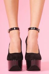 Nasty Gal Salena Platform Black in Black - Lyst