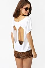 Nasty Gal Diamond Back Tee White in White - Lyst