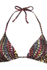 Paul Smith Rainbow Animal Print Bikini Top - Lyst