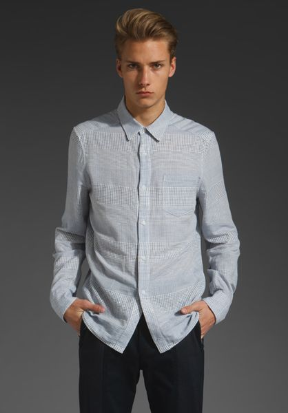 Richard Chai Classic Button Down in Blue for Men - Lyst