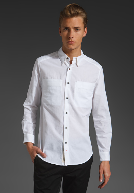 Similiar White Button Up Shirt Keywords