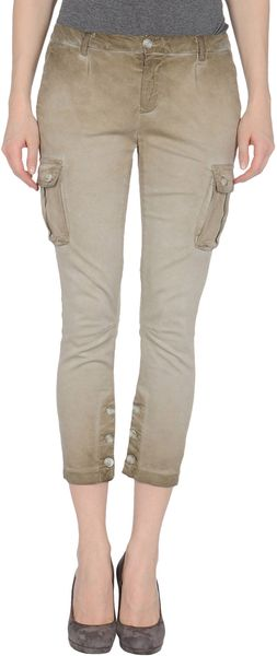 Twin-set Simona Barbieri Denim Trousers - Lyst