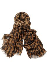 Alexander McQueen Leopard and Skullprint Cashmere and Silk Blend Scarf - Lyst