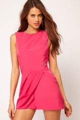 ASOS Collection Asos Sleeveless Playsuit with Wrap - Lyst