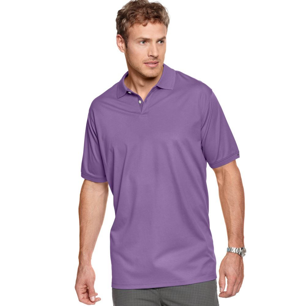 Calvin Klein Big And Tall Liquid Cotton Polo Shirt In
