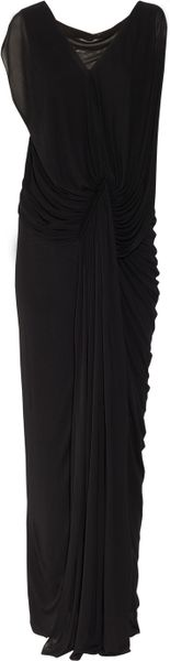 Donna Karan New York Stretch Georgette Gown in Black - Lyst