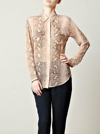 Equipment Signature Silk Blouse - Lyst