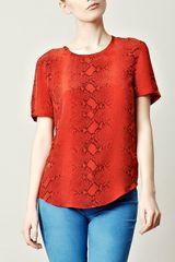 Equipment Snakeprint Top - Lyst