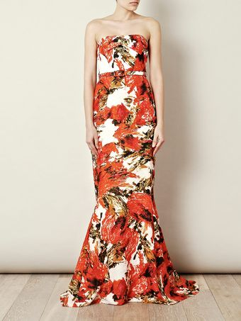 Erdem Rhiannon Strapless Dress - Lyst