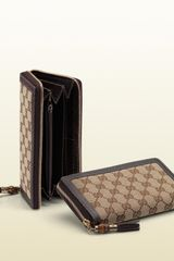Gucci Bamboo Tassel Zip Around Wallet - Lyst