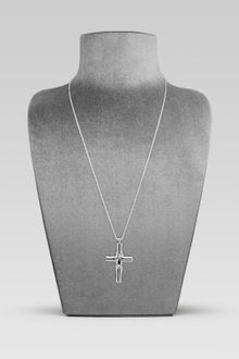 Gucci Necklace with Bamboo Cross Pendant - Lyst