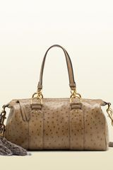 Gucci Smilla Medium Boston Bag with Removable Fur Tails and Bamboo Details - Lyst