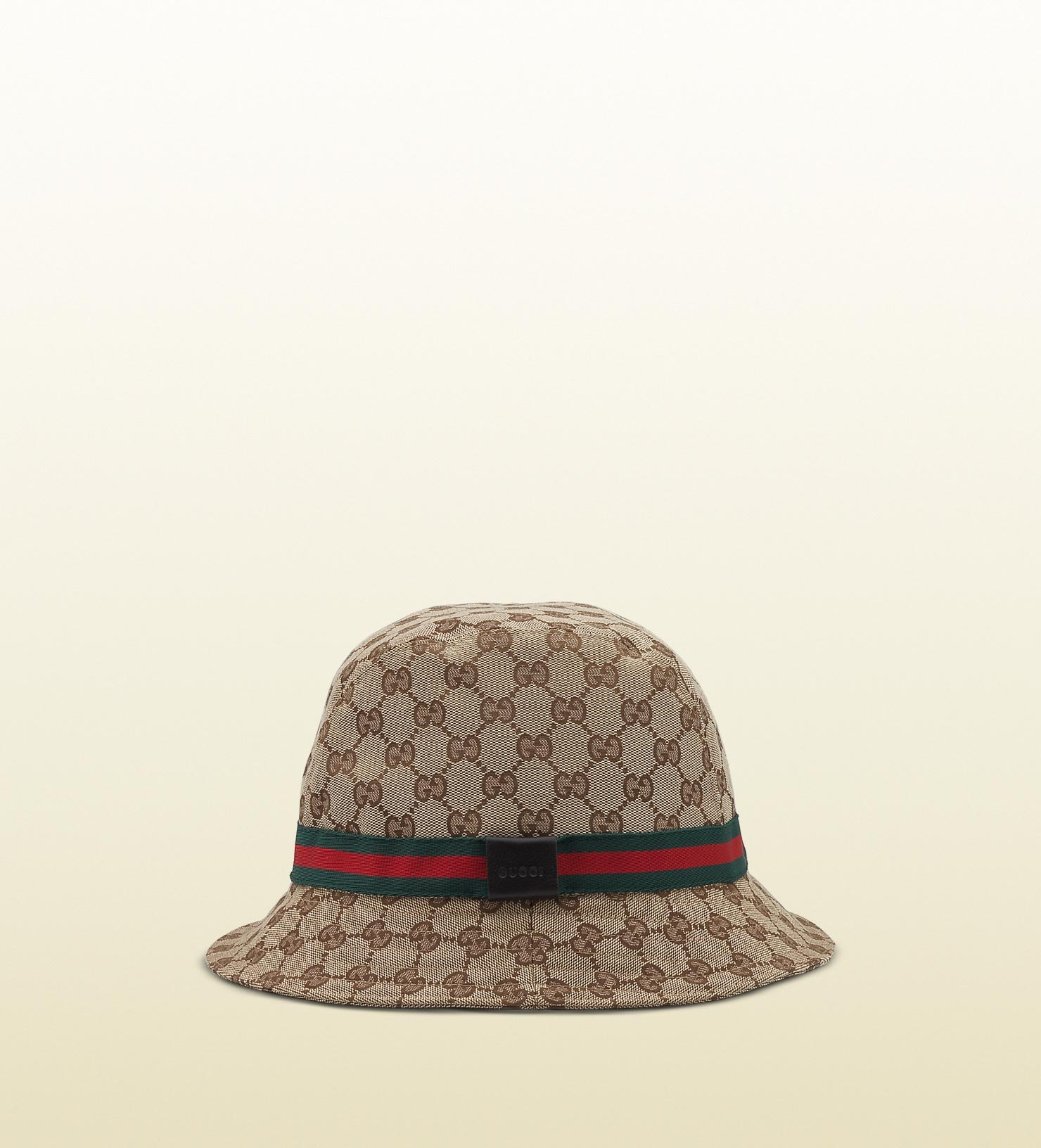 Gucci Hats For Men: Gucci Original Gg Canvas Fedora With Web In Natural For