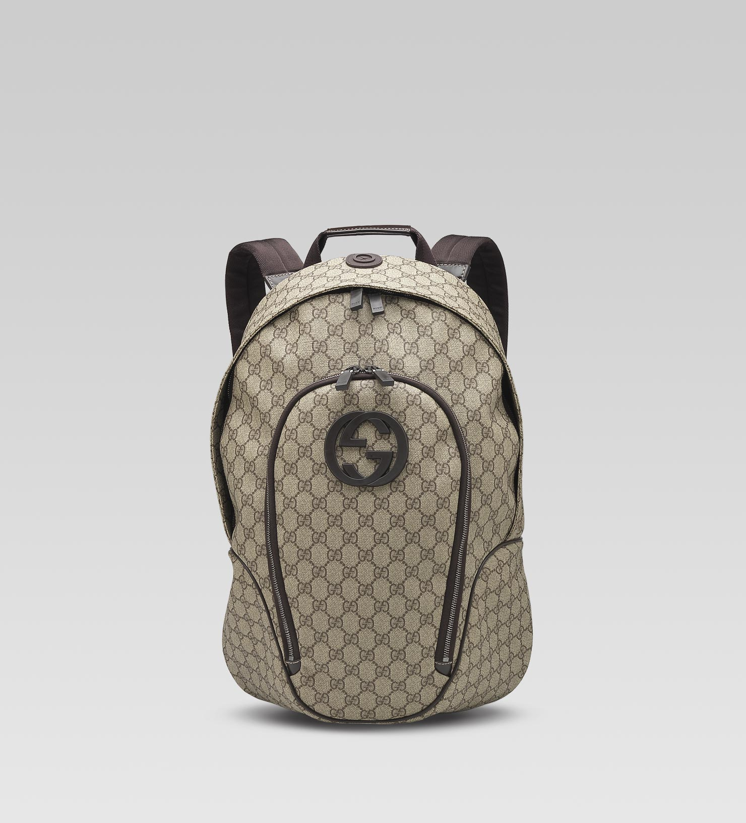 42e9f1e79951 Lyst - Gucci Interlocking G Backpack in Gray for Men