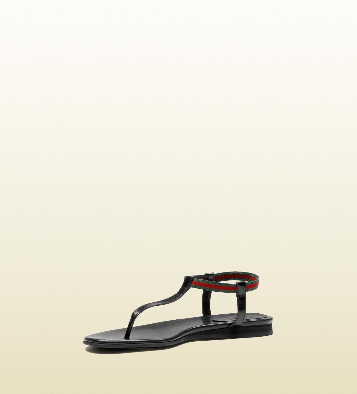 eaae6307c Gucci Areia Flat Thong Sandal with Signature Web in Black - Lyst