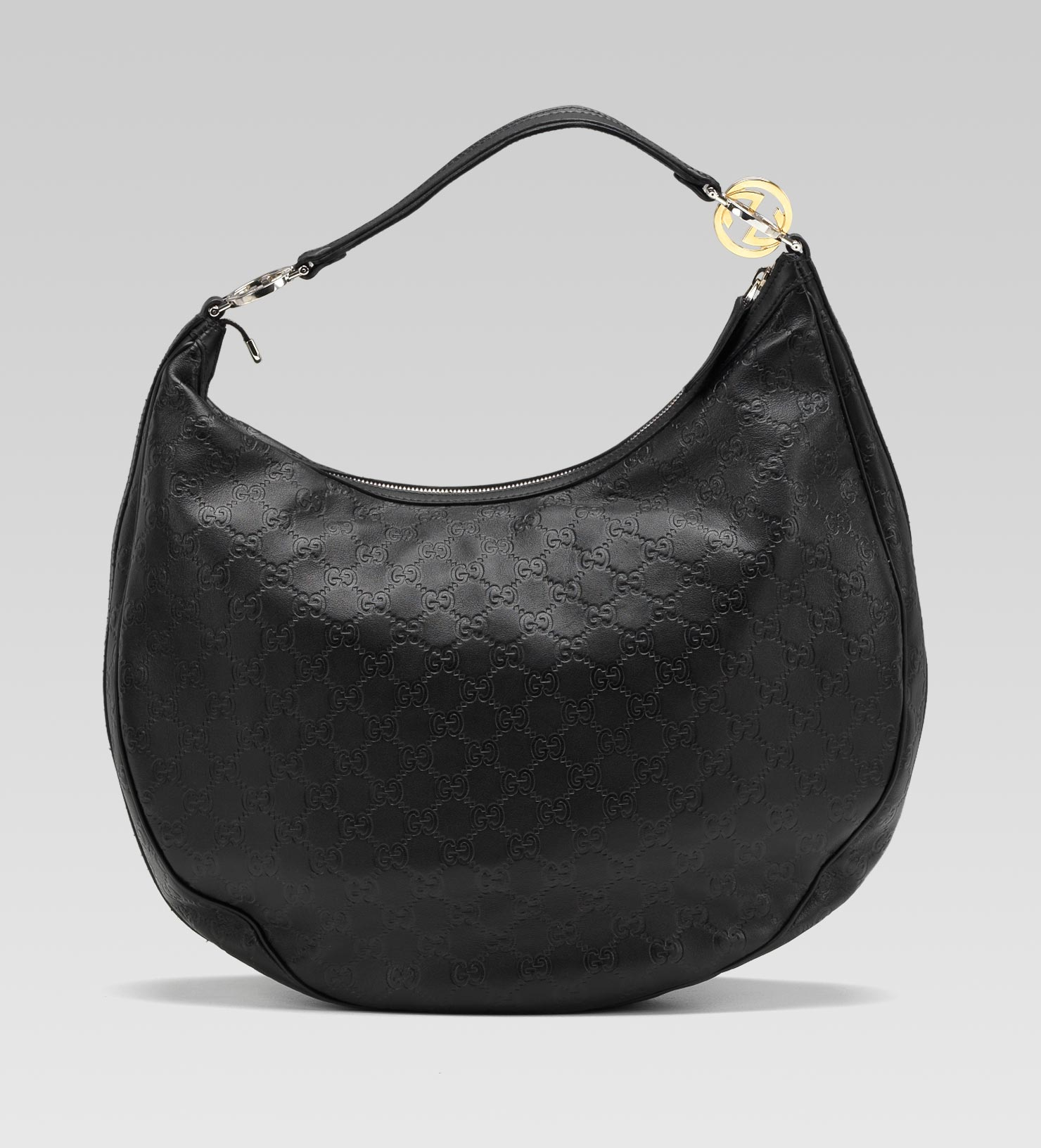 52eb3eaff16f Lyst - Gucci Gg Twins Large Hobo with Interlocking G Ornaments in Black