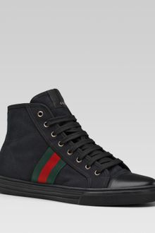 Gucci Hitop Laceup Sneaker with Signature Web Detail - Lyst
