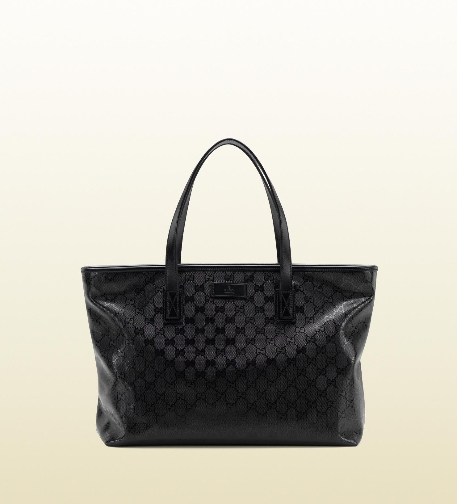 gucci gg imprim tote in black lyst. Black Bedroom Furniture Sets. Home Design Ideas