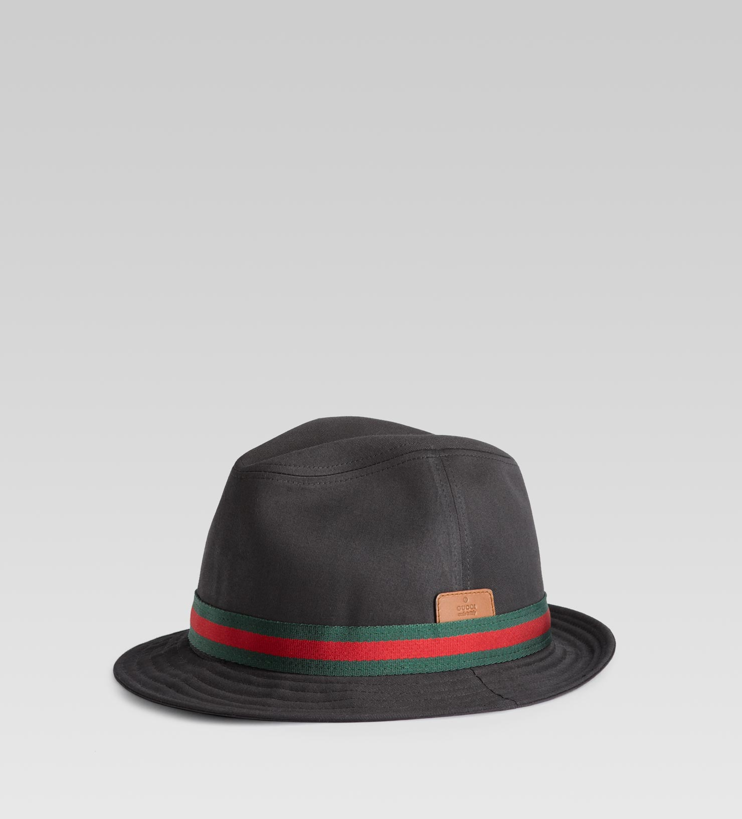 d1e67260076a Gucci Trilby Hat with Embossed Gucci Trademark in Black for Men - Lyst