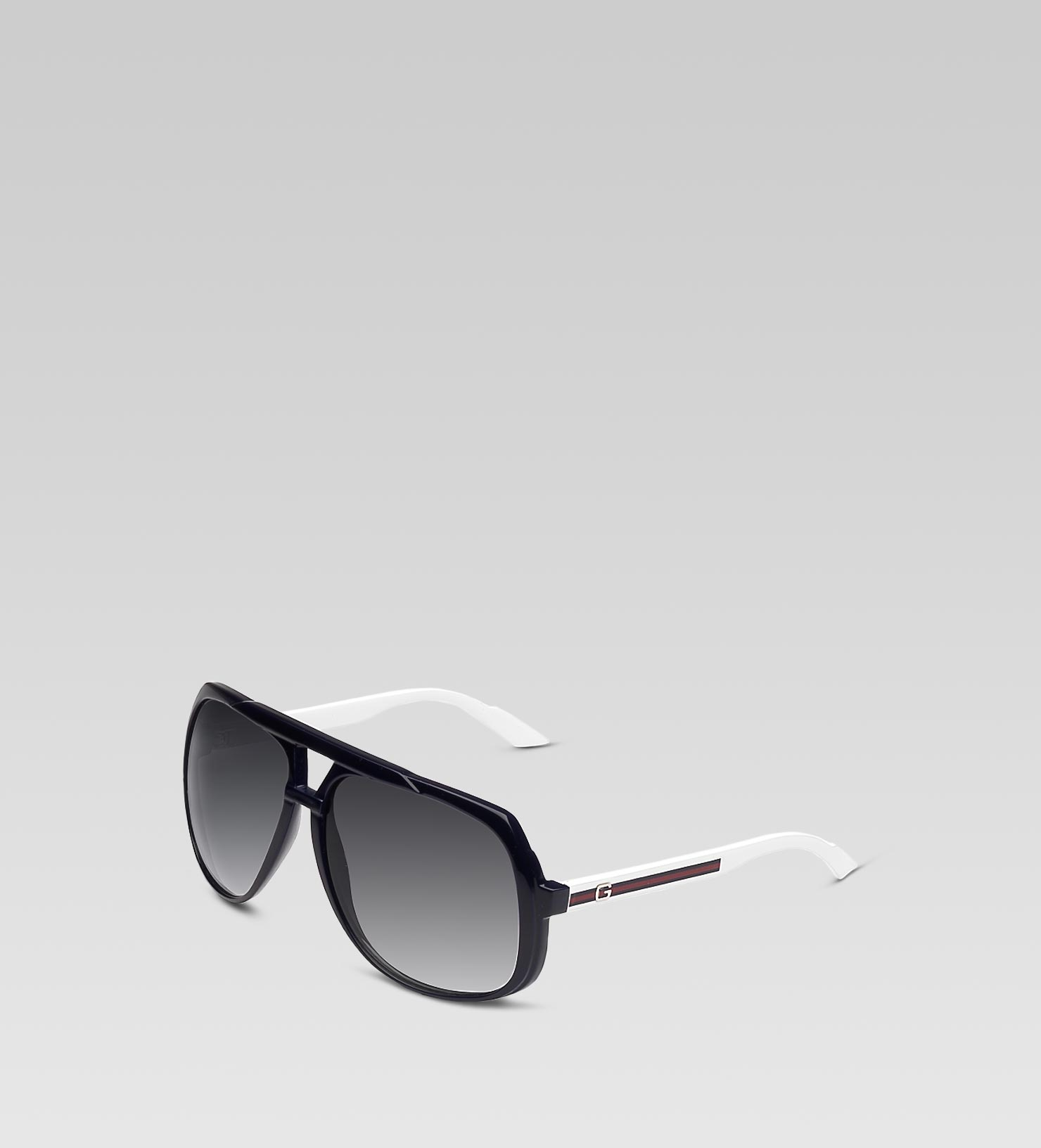 3c9a23b21c7 Lyst - Gucci Large Aviator Sunglasses in White for Men