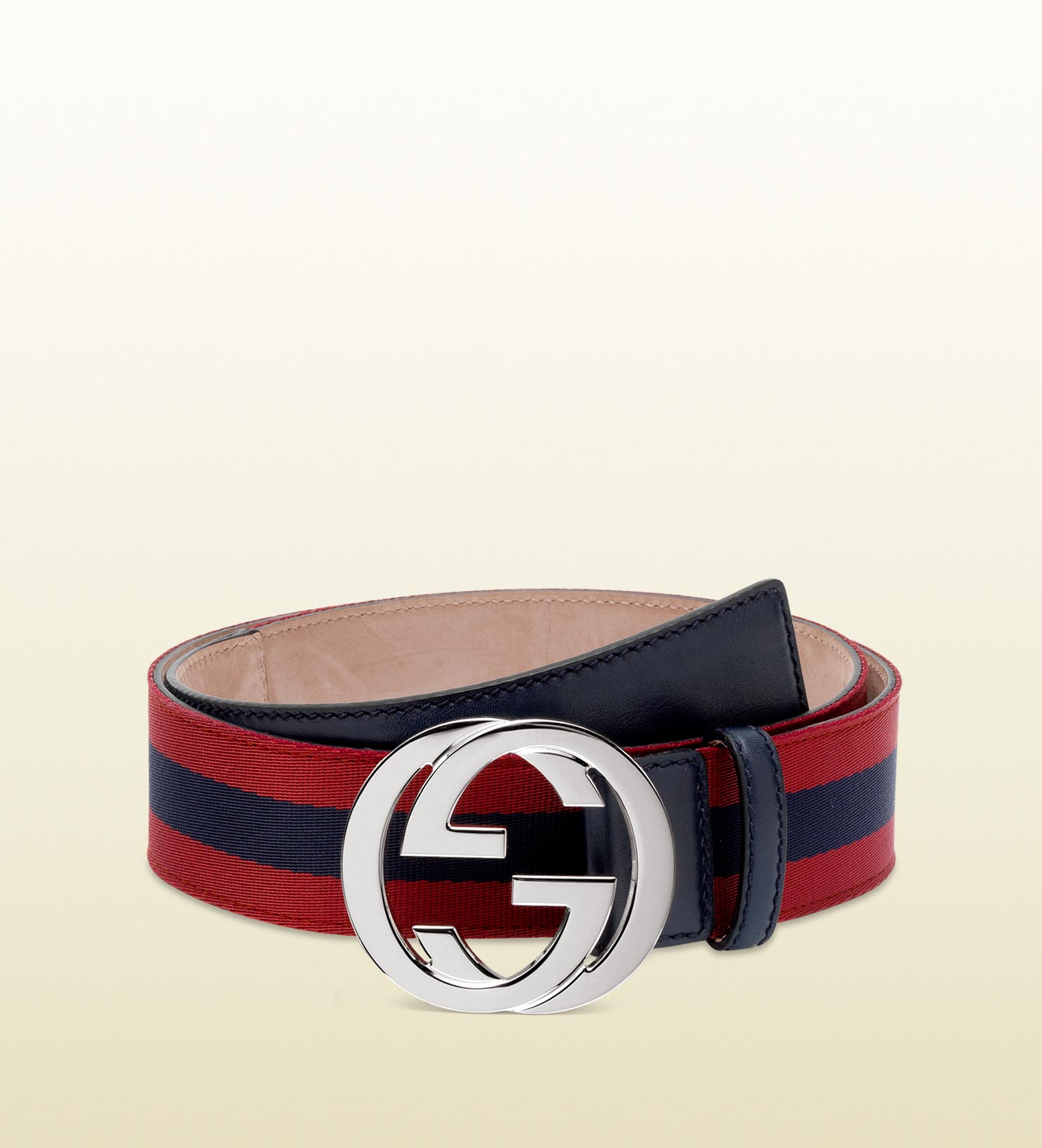 Lyst - Gucci Belt with Interlocking G Buckle in Blue for Men