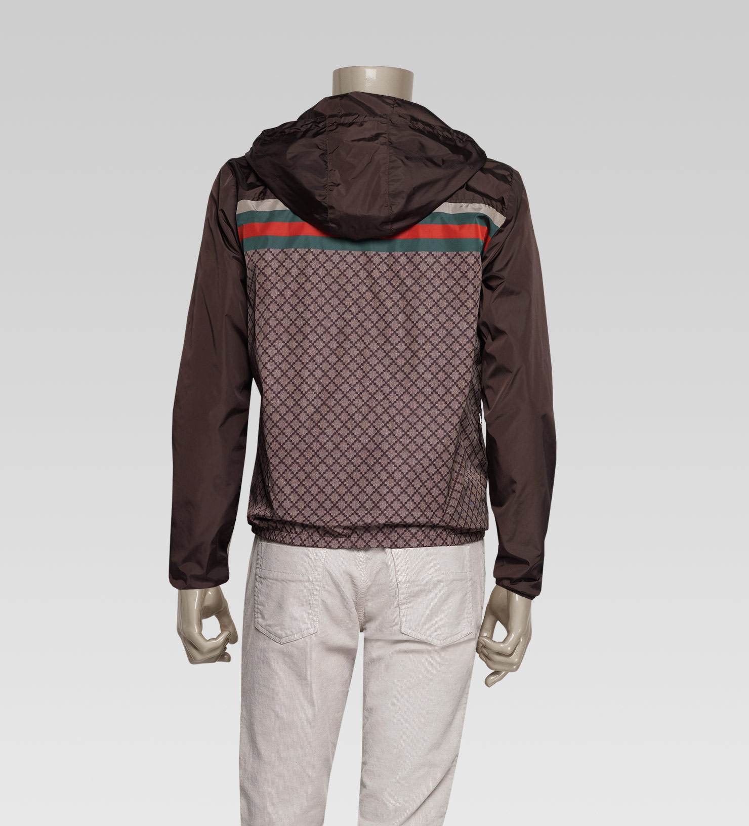 f1836505eee5 Lyst Gucci Iconic Kway Jacket In Brown For Men
