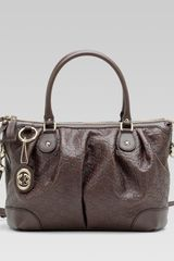 Gucci Sukey Dark Brown Guccissima Leather Top Handle Bag - Lyst