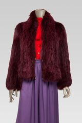 Gucci Shawl Collar Fur Jacket - Lyst