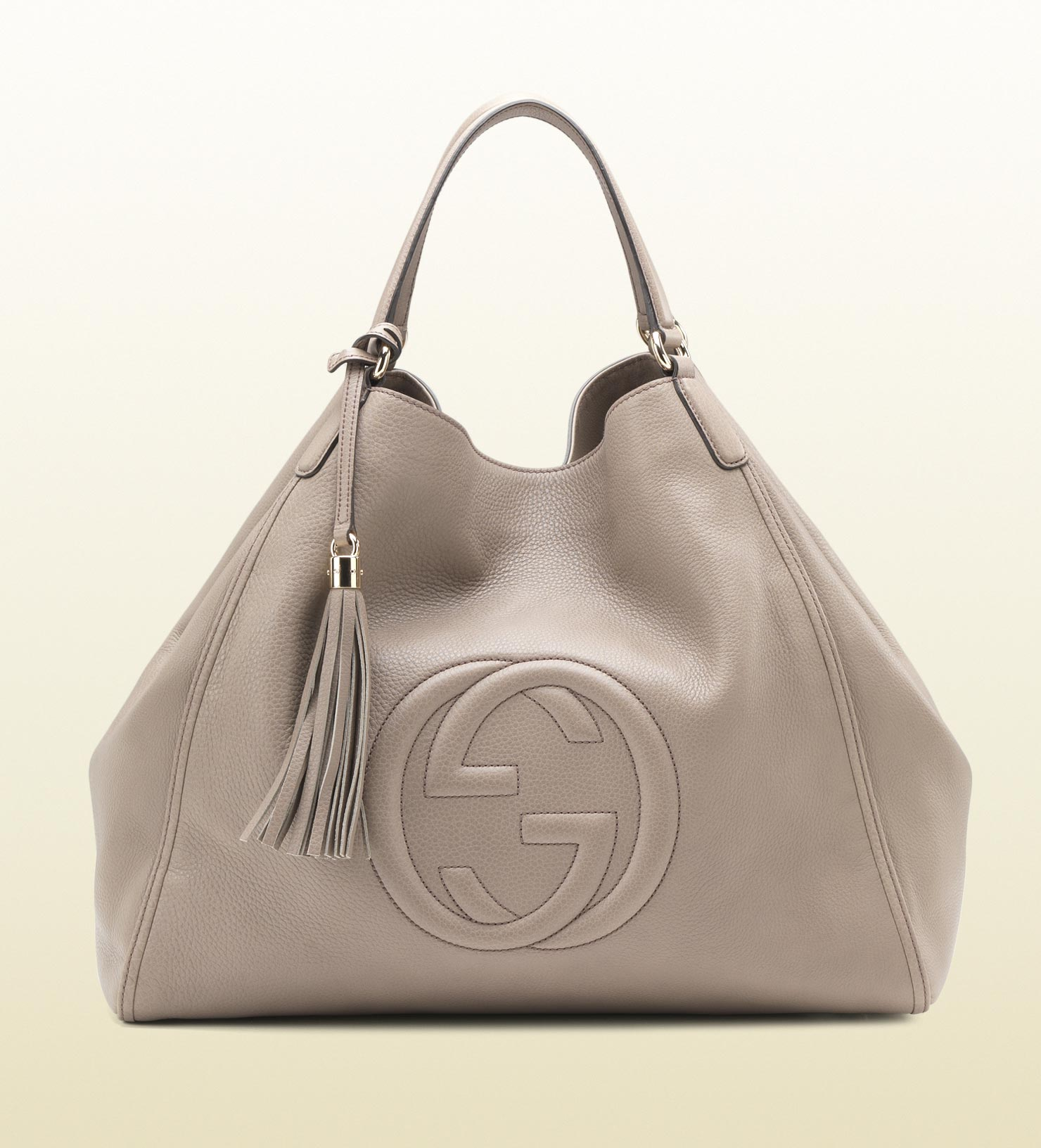 41208689b58 Lyst - Gucci Soho Leather Shoulder Bag in Gray
