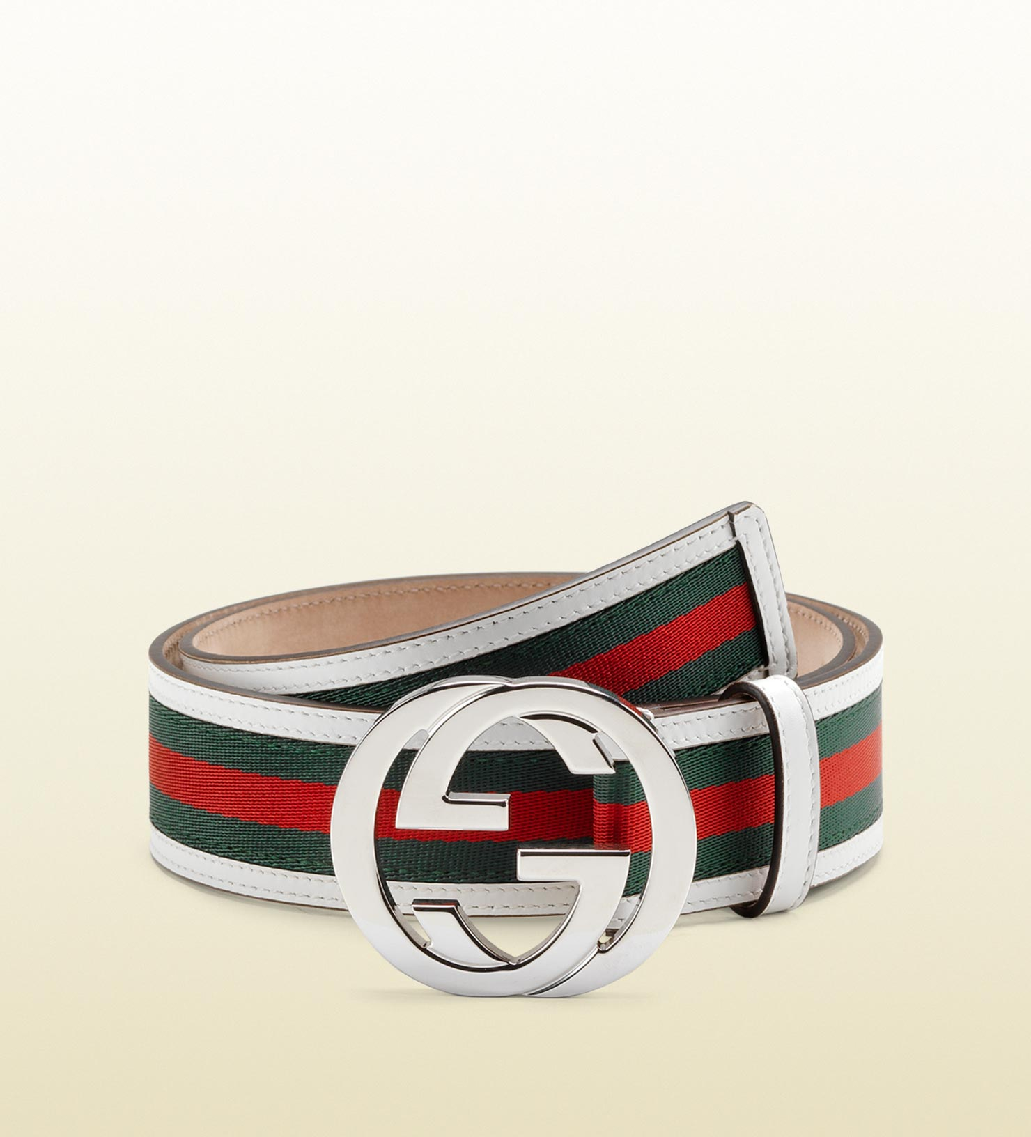 0fb381fb87c Gucci - Metallic Signature Web Belt With Interlocking G Buckle for Men -  Lyst