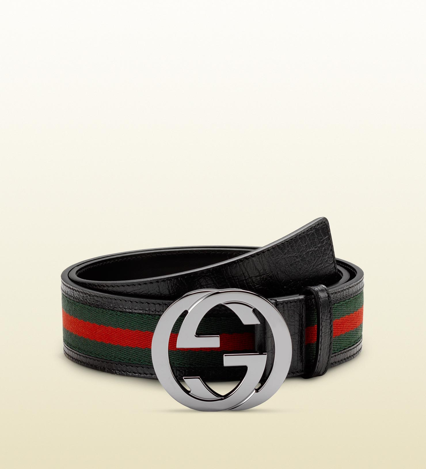 1bae657ee49 Lyst - Gucci Signature Web Belt With Interlocking G Buckle in Red