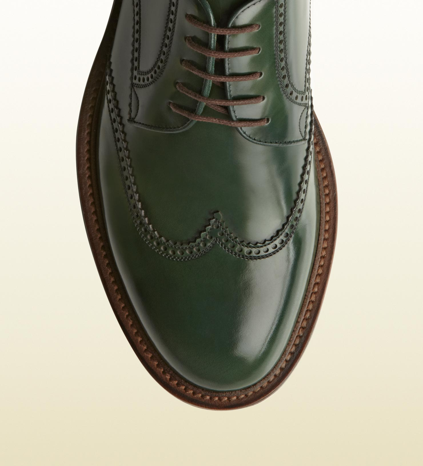 641a1dba5cfe4 Men For Laceup Lyst Green Shoe Gucci Brogue In 6YFqfO0