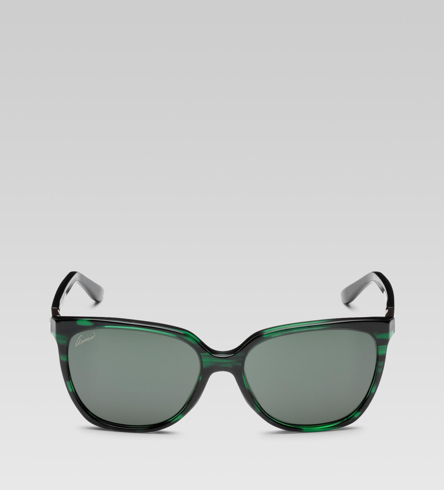 5626b45c66 Gucci Medium Square Frame Sunglasses with Gucci Web Plaque Logo and ...