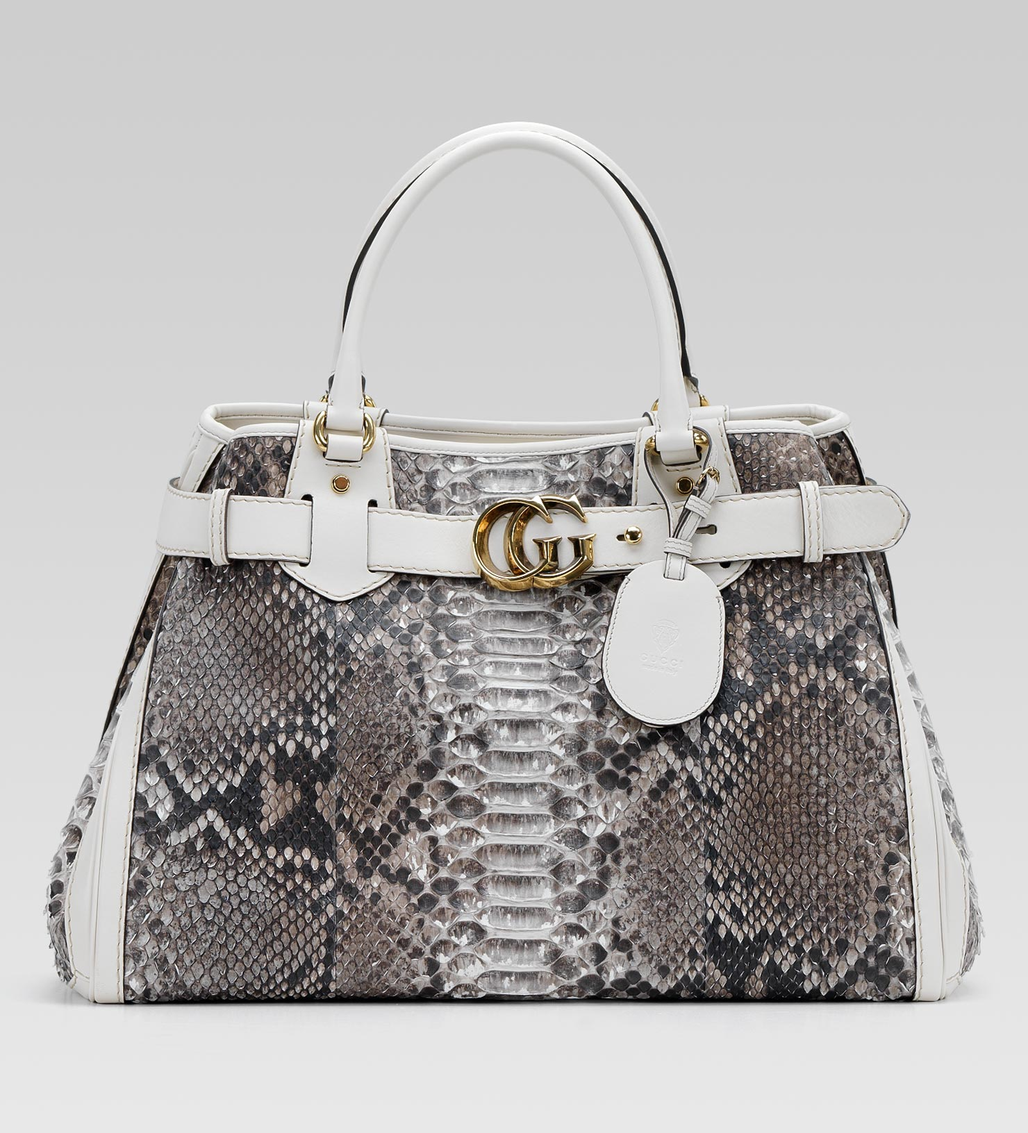 6d26b127b4d3 Lyst - Gucci Gg Running Large Tote with Double G Detail in Natural