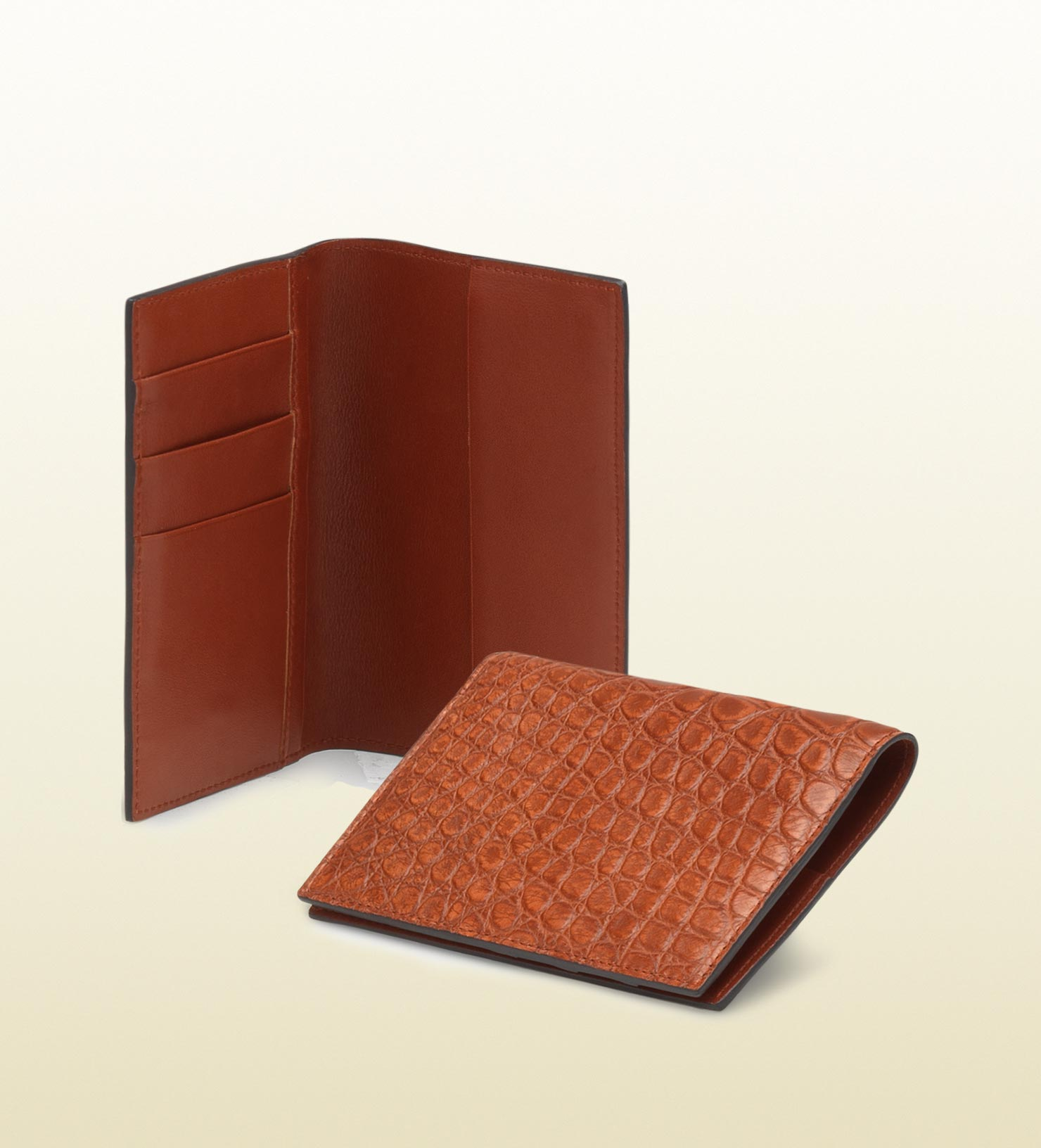 822d9a063b5 Lyst - Gucci Passport Case in Brown for Men