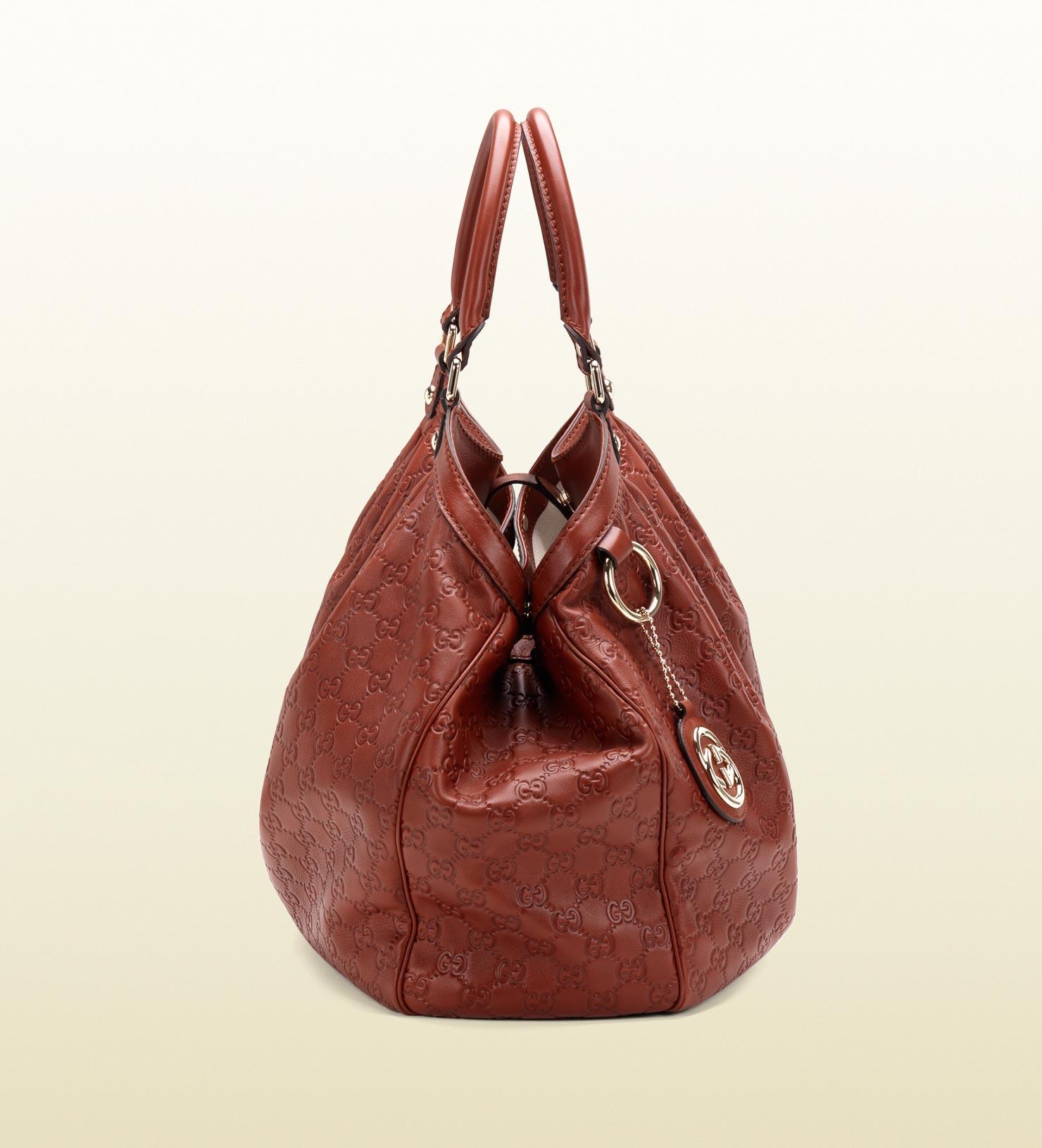 9132d0da60e9 Gucci Sukey Guccissima Leather Tote in Brown - Lyst