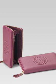 Gucci Interlocking G Zip Around Wallet - Lyst