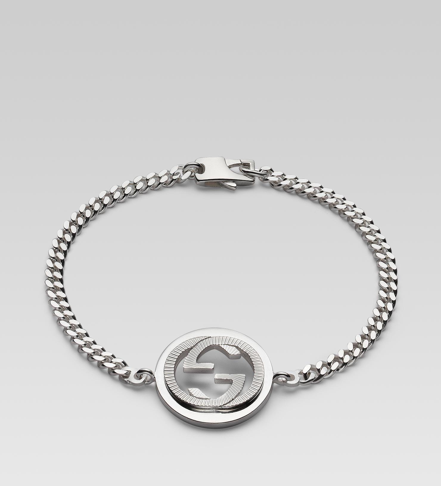 Gucci Bracelet With Interlocking Guilloch 233 G Motif In