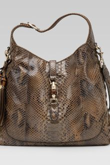 Gucci New Jackie Smog Python Shoulder Bag - Lyst