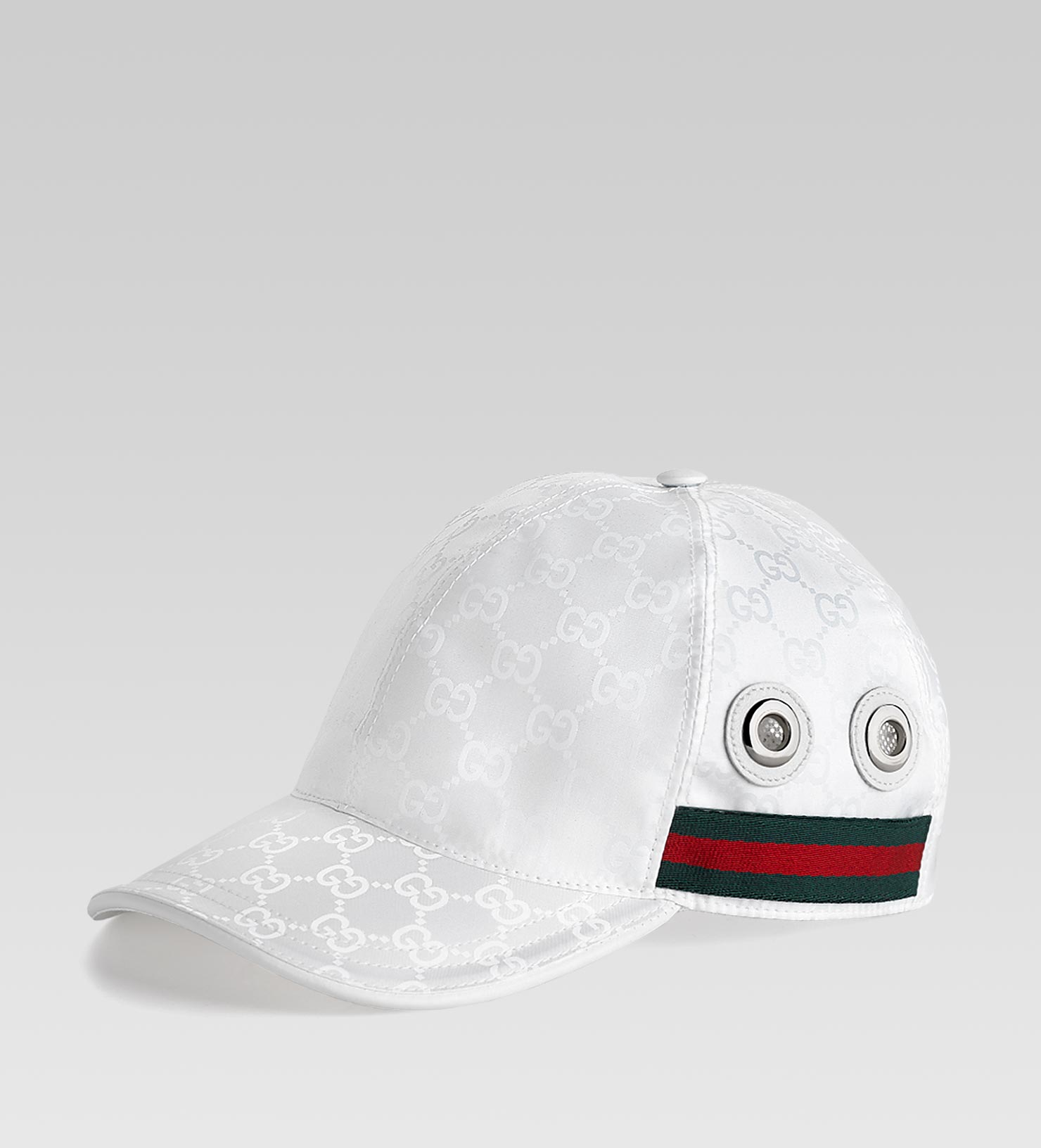 046f0bd93b2 Lyst - Gucci Baseball Hat with Grommets and Adjustable Hookandloop ...