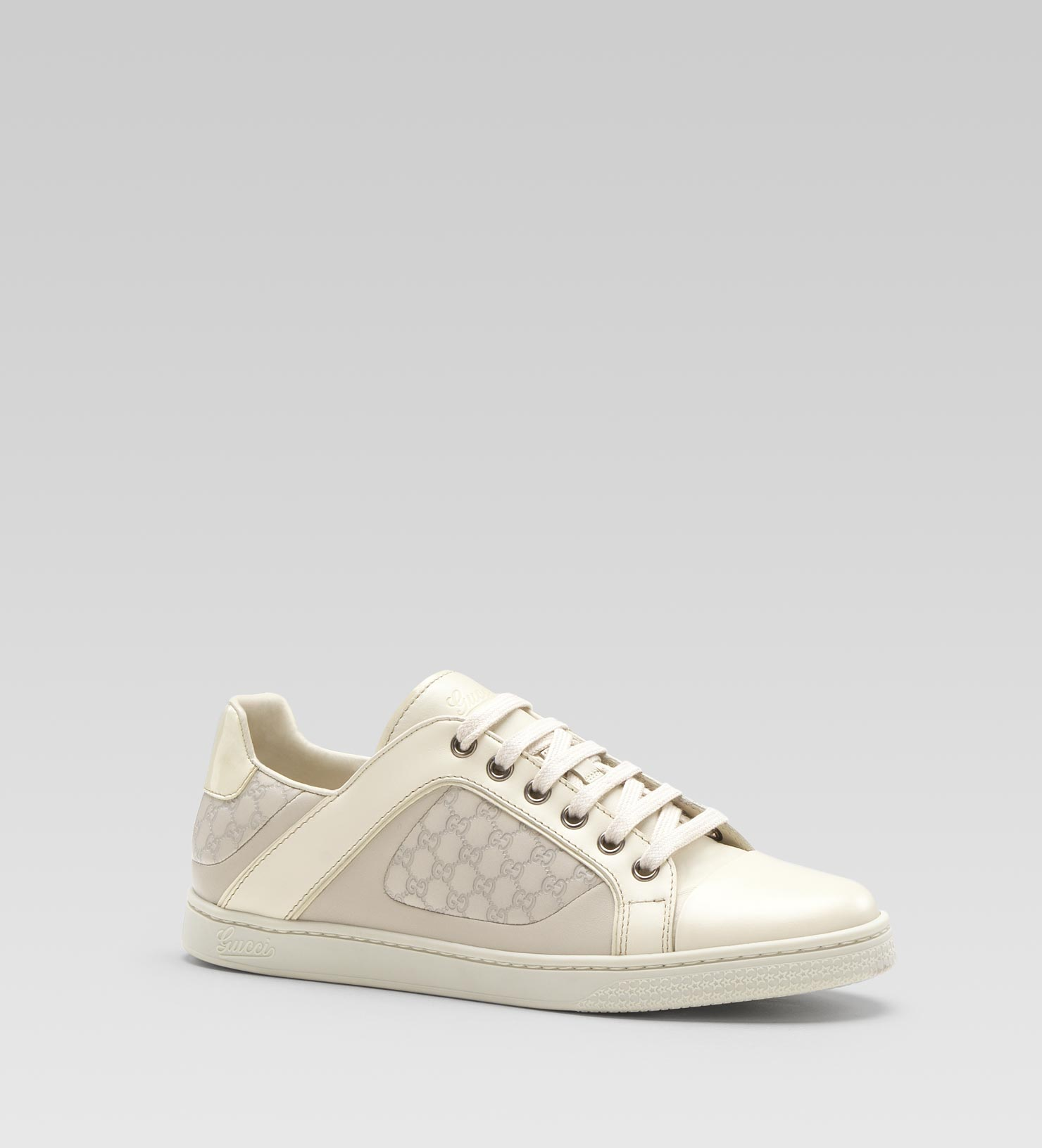 Lyst - Gucci Coda Pop Low Laceup Sneaker in White b5e0a8f115