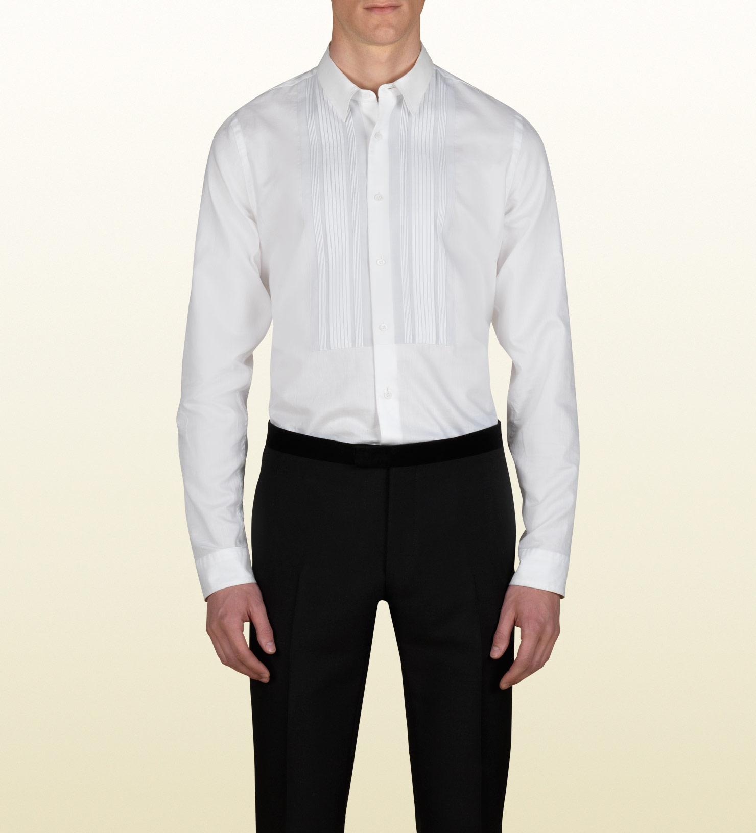 Lyst Gucci Skinny Evening Shirt In White For Men