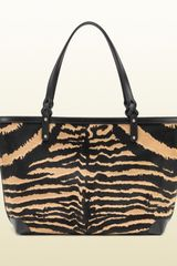 Gucci Gucci Craft Zebra Print Calf Hair Tote in Animal (zebra) - Lyst