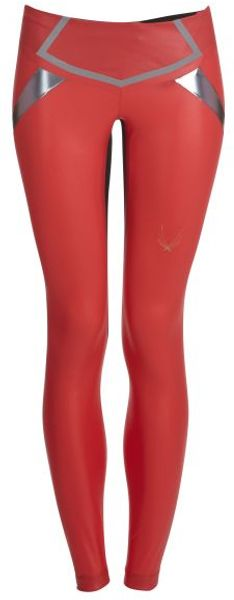 Lucas Hugh Rocket Red Flash Leggings - Lyst