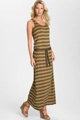 Michael by Michael Kors Stripe Jersey Maxi Dress - Lyst