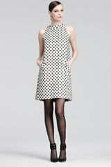 Oscar de la Renta Tweed Trapeze Dress - Lyst