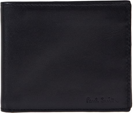 Paul Smith Black Billfold Multi Stripe Wallet in Black for Men